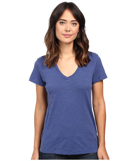 Mod-o-doc - Slub Jersey Short Sleeve V-Neck Tee (Peachtree) Women's Short Sleeve Pullover
