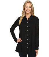 Mod-o-doc - Slub Jersey Long Sleeve Button Front Tunic