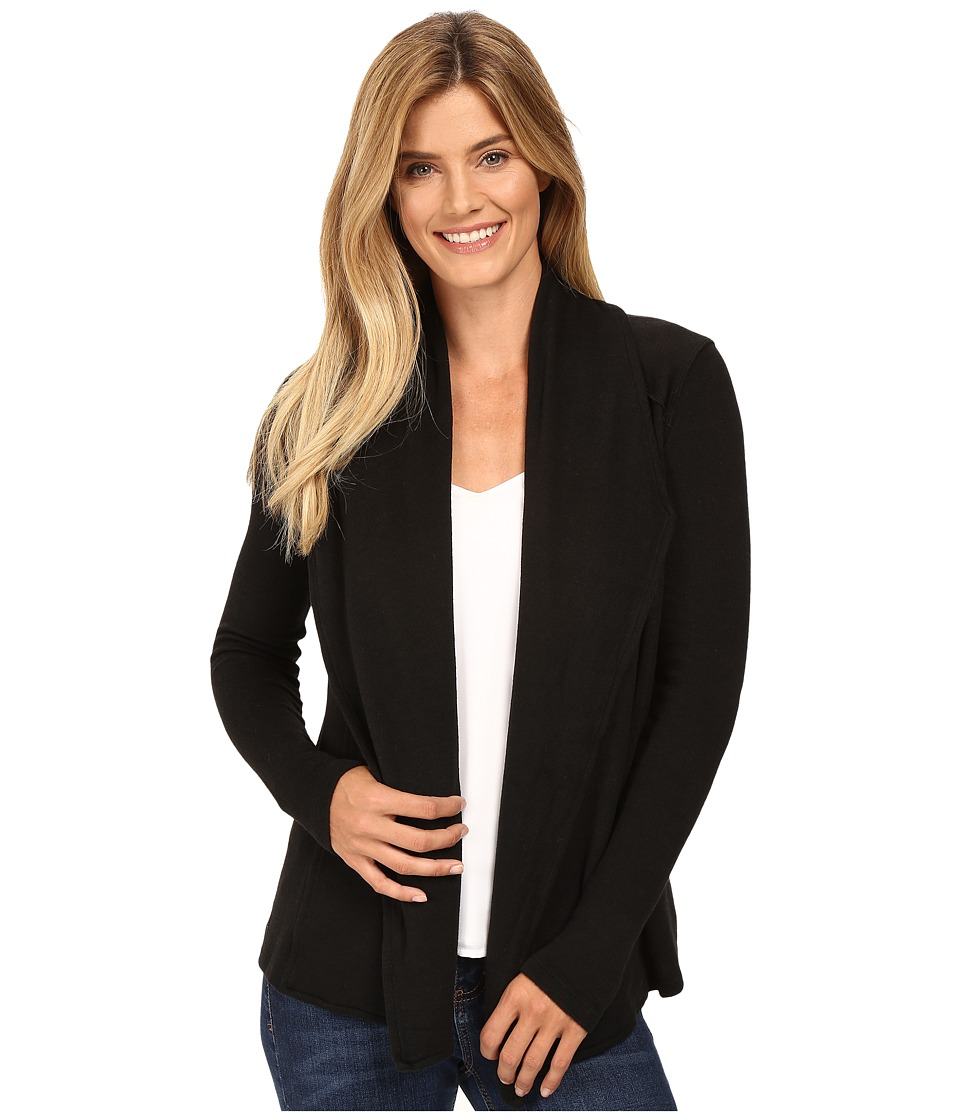 Mod-o-doc - So..Soft Sweater Knit Seamed Cardigan (Black) Women