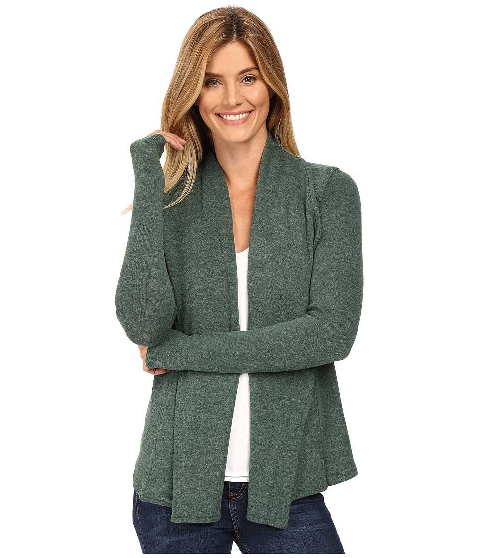 Mod-o-doc - So..Soft Sweater Knit Seamed Cardigan (Cypress) Women