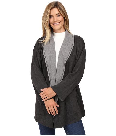 Mod-o-doc Two-Tone Ponte Reversible Kimono Sleeve Coat