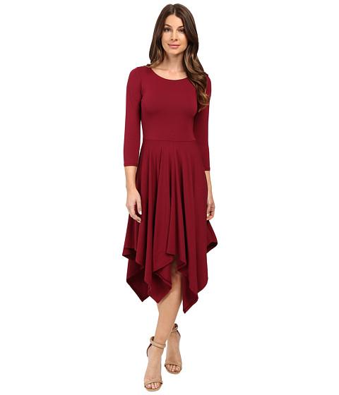 Mod-o-doc - Cotton Modal Spandex Jersey Hanky Hem Dress (Chianti) Women's Dress