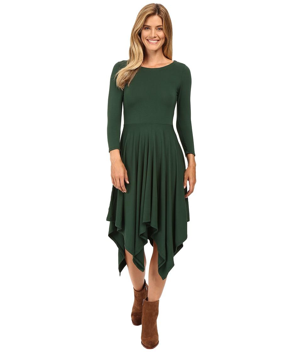 Mod-o-doc Cotton Modal Spandex Jersey Hanky Hem Dress (Cypress) Women