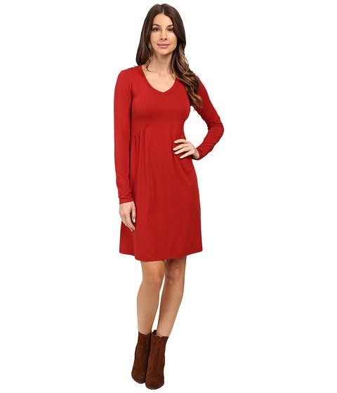 Mod-o-doc - Cotton Modal Spandex Jersey Princess Shirred V-Neck Dress (Chicory) Women's Dress