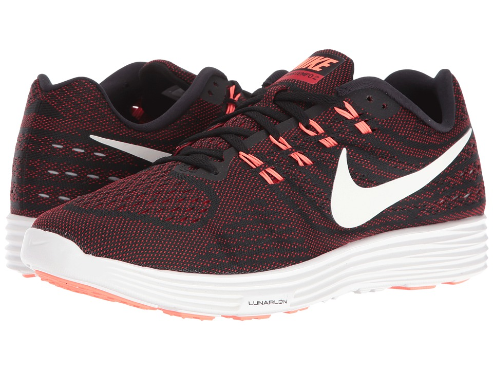 Nike - Lunartempo 2 (Black/University Red/Bright Mango/Smmit White) Mens Running Shoes
