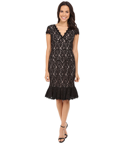 NUE by Shani Lace Dress w/ Flounce Detail