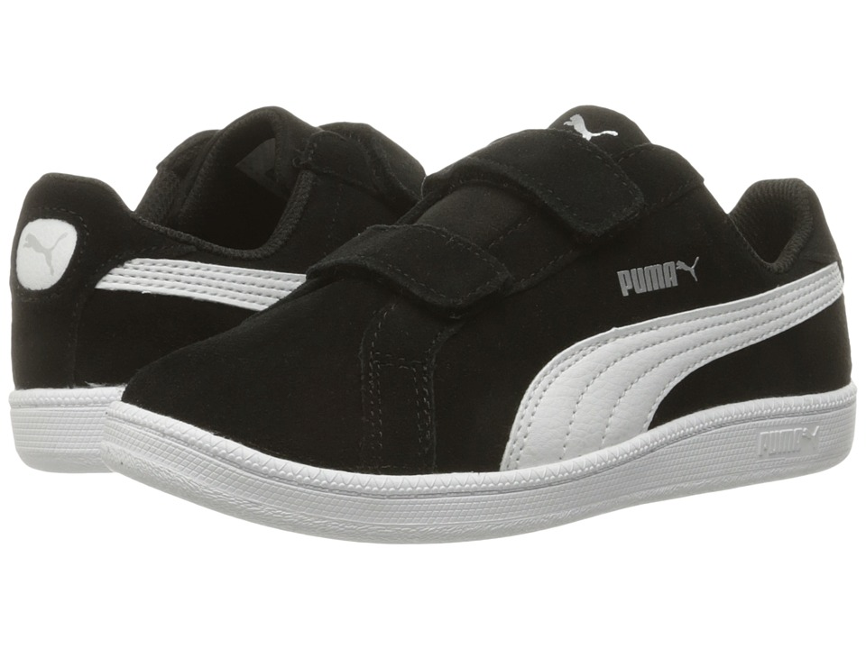 Puma Kids - Smash Fun Suede (Little Kid/Big Kid) (Puma Black/Puma White) Boys Shoes