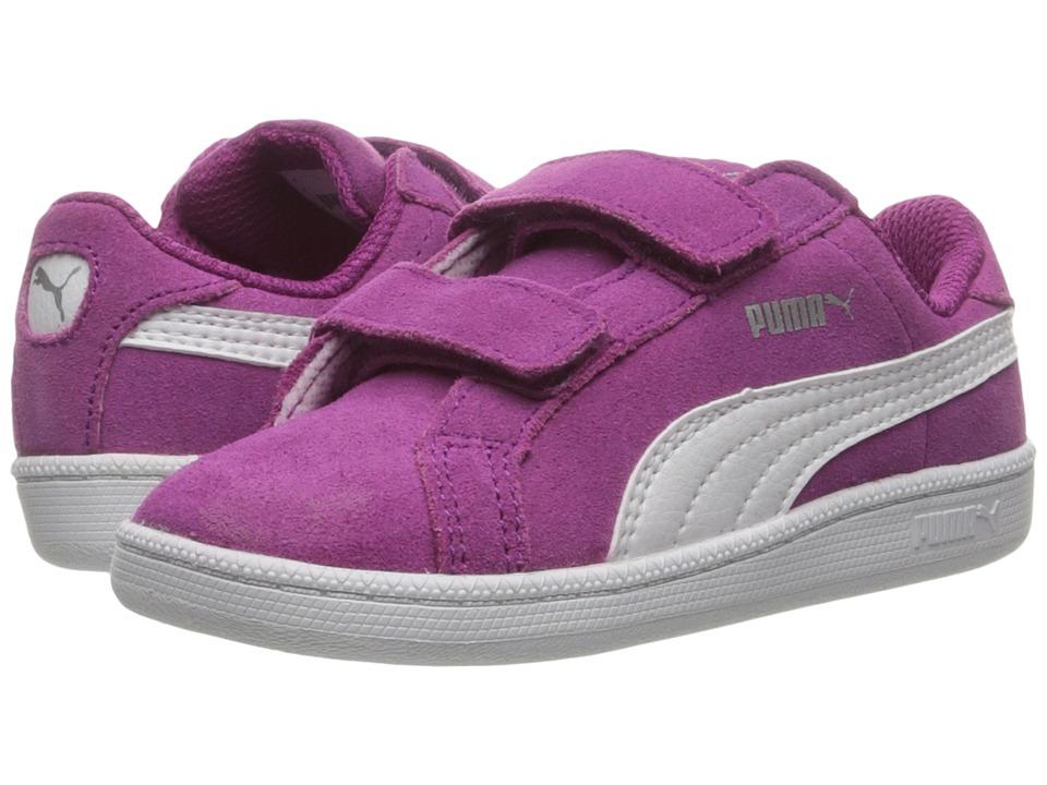 Puma Kids - Smash Fun Suede (Toddler) (Hollyhock/Puma White) Girls Shoes
