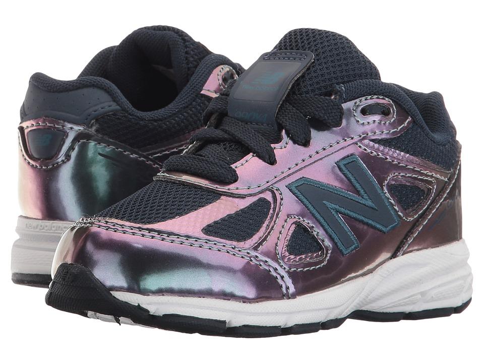 New Balance Kids - KJ990v4 (Infant/Toddler) (Purple/Silver) Girls Shoes
