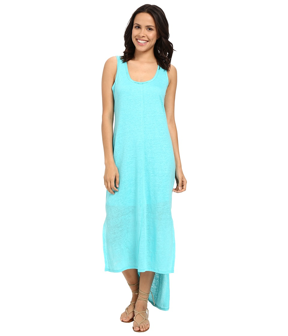 HEATHER Linen High Low Tank Dress Seaflower Womens Dress