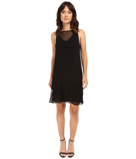 HEATHER Silk Overlay Dress