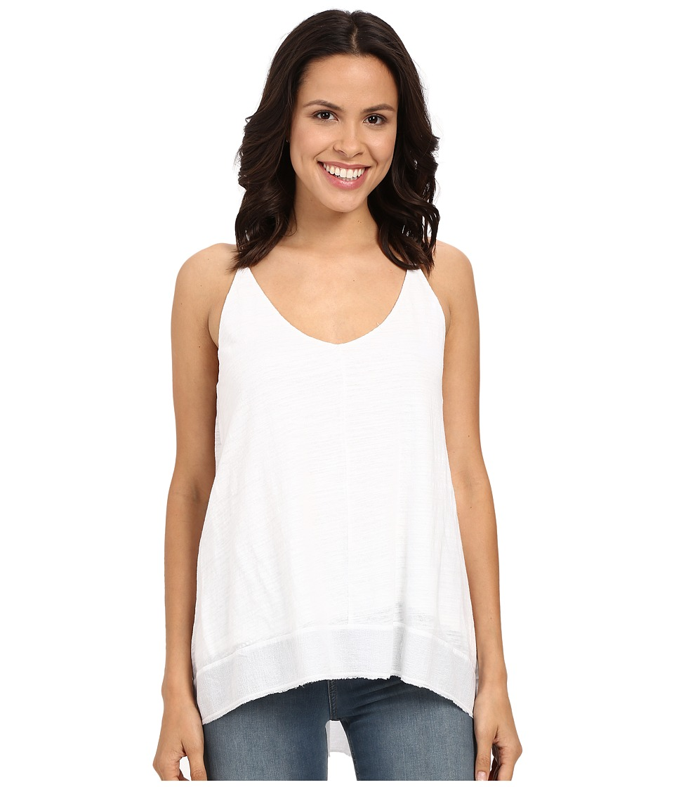HEATHER Cotton Gauze High Low Double V Cami White Womens Dress