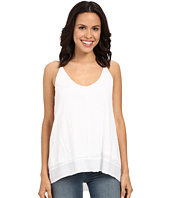 HEATHER - Cotton & Gauze High-Low Double V-Cami