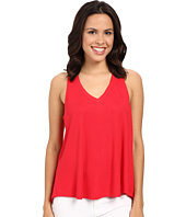 HEATHER - V-Neck Overlap Back Tank Top