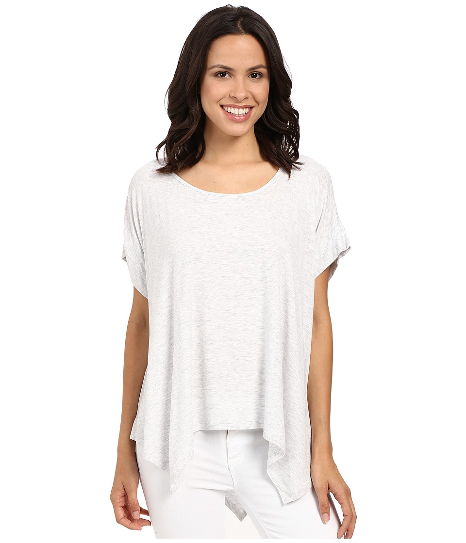 HEATHER Boxy Swing Hem Tee Heather White Womens Clothing