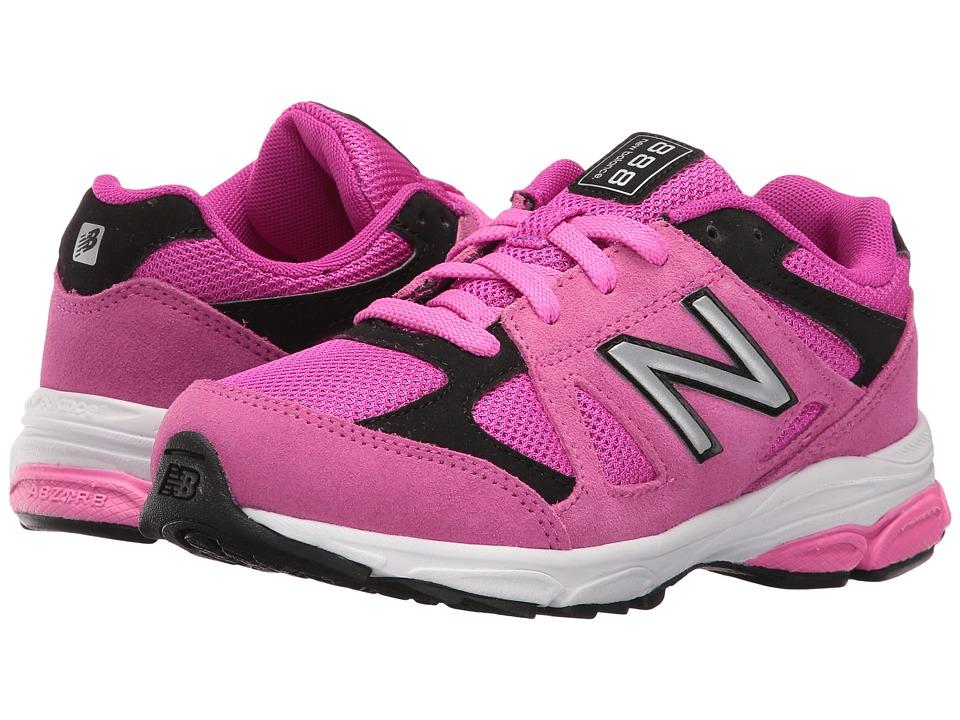 New Balance Kids - KJ888v1 (Little Kid) (Pink/Black) Girls Shoes