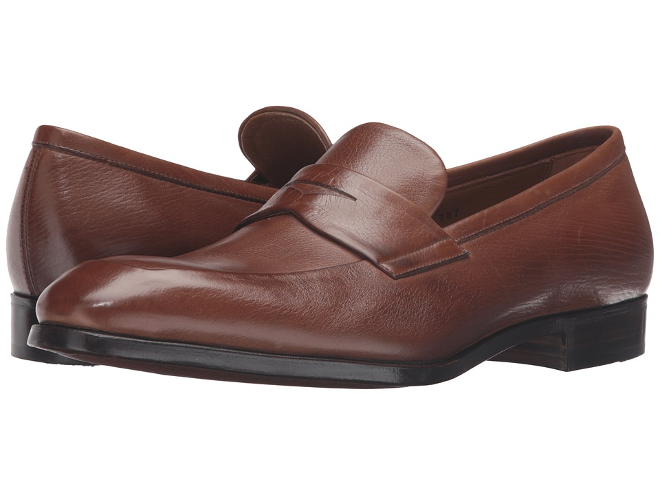 Gravati - Penny Loafer w/ Apron Toe (Light Brown) Mens Shoes