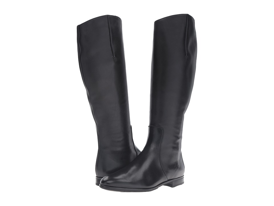 Gravati - Tall Plain Toe Boot (Butter Calf Black) Women