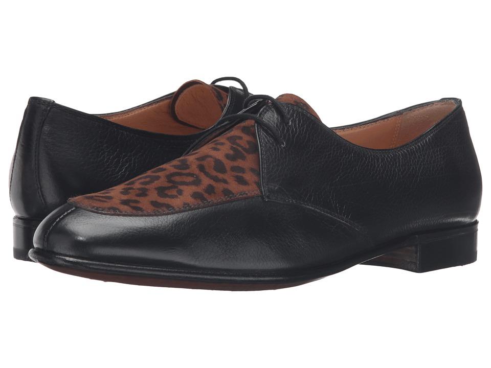 Gravati - Black Calf Leopard Oxford (Black/Leopard) Women