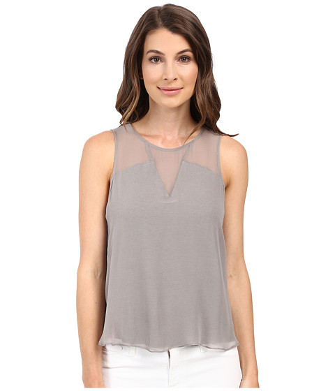 HEATHER Silk Block Tank Top