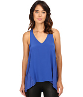 HEATHER - Silk Front Racerback Tank Top