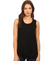 HEATHER - Asymmetrical Shirred Tank Top