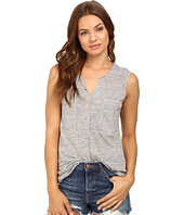 HEATHER - Linen Sleeveless Pocket Tee