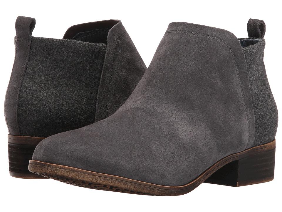 TOMS Deia Bootie (Castlerock Grey Suede/Wool) Women