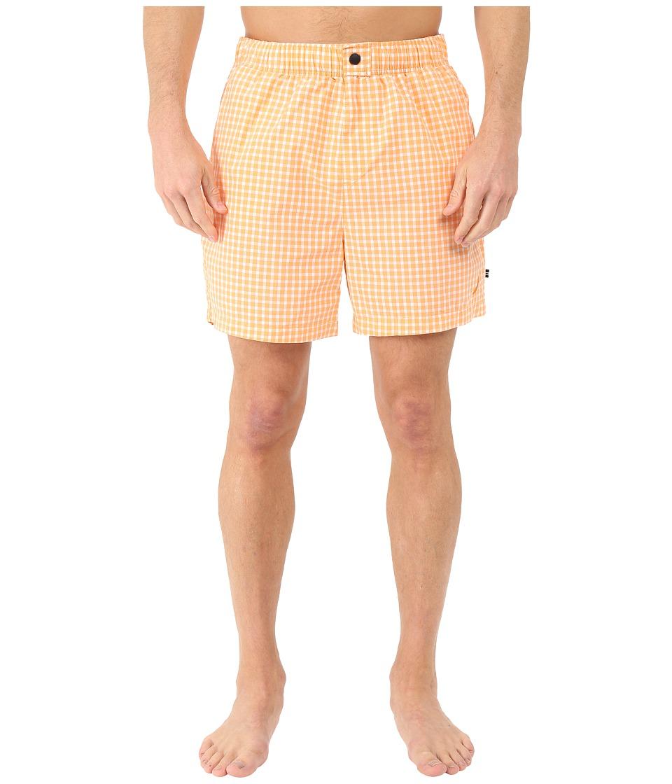 Nautica Gingham Trunk Orange Sorbet Mens Swimwear