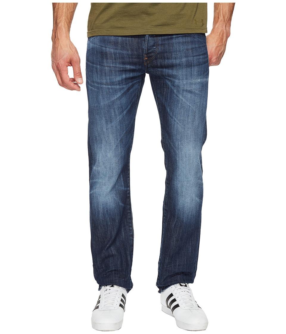 G-Star - Attacc Straight Fit Jeans in Blue Denim Stretch Denim Dark Aged