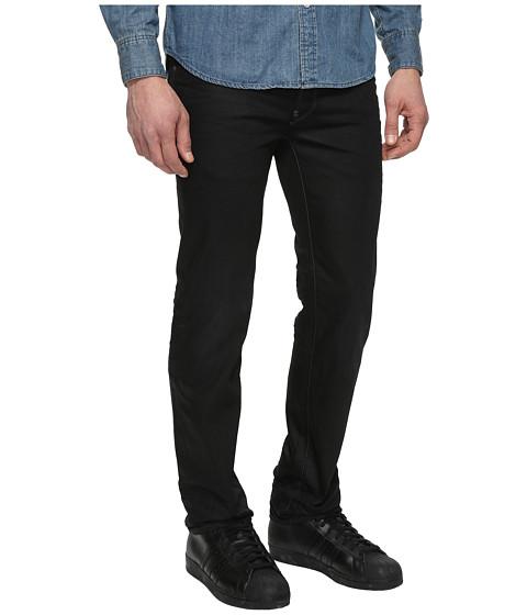 g star attacc straight fit jeans in hoist black denim. Black Bedroom Furniture Sets. Home Design Ideas