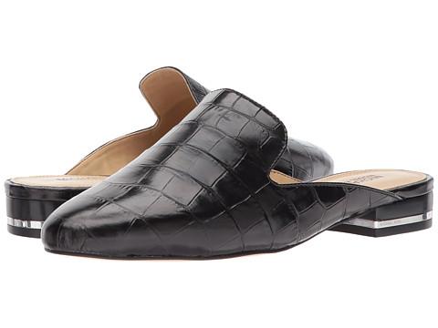 MICHAEL Michael Kors Natasha Slide - Black Embossed Croc