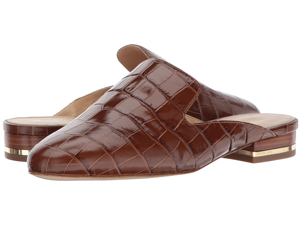 MICHAEL Michael Kors Natasha Slide (Luggage Embossed Croc) Women