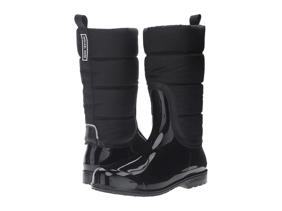MICHAEL Michael Kors Cabot Quilted Rain Boot (Black Rubber/Nylon/Saffiano) Women