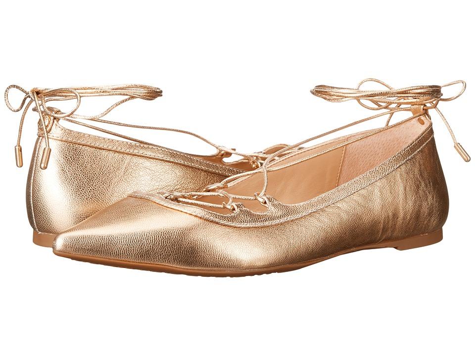 MICHAEL Michael Kors Tabby Flat (Pale Gold Tumbled Metallic) Women