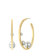 Rebecca Minkoff - Three Pearl Hoop Earrings