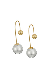 Rebecca Minkoff - Pearl Back Threader Earrings