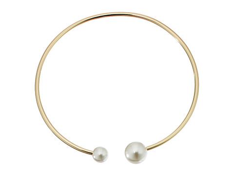 Rebecca Minkoff Pearl Collar Necklace - Gold/Pearl