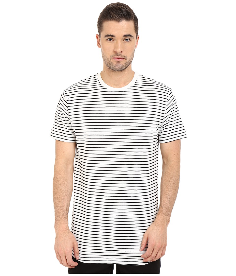 Akomplice Striped Moan Black Mens Short Sleeve Pullover