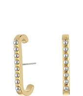 Rebecca Minkoff - Studded Vertical Huggie Earrings