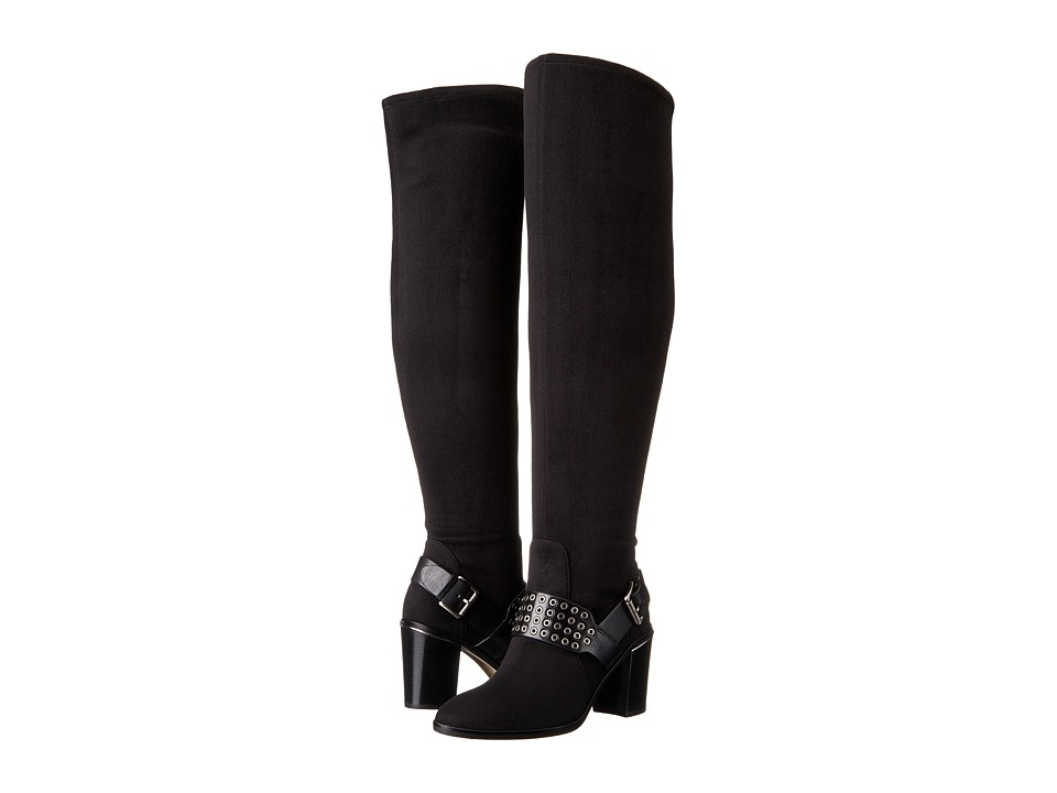 MICHAEL Michael Kors Brody OTK Boot (Black Stretch Suede/Vachetta) Women