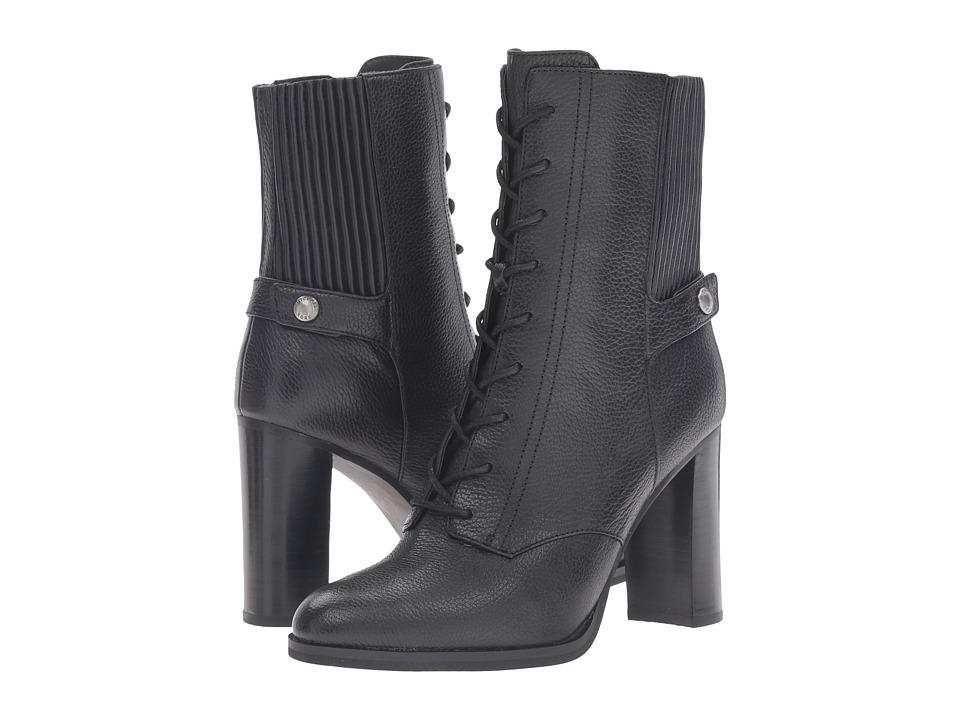 MICHAEL Michael Kors Carrigan Bootie (Black Tumbled Leather) Women