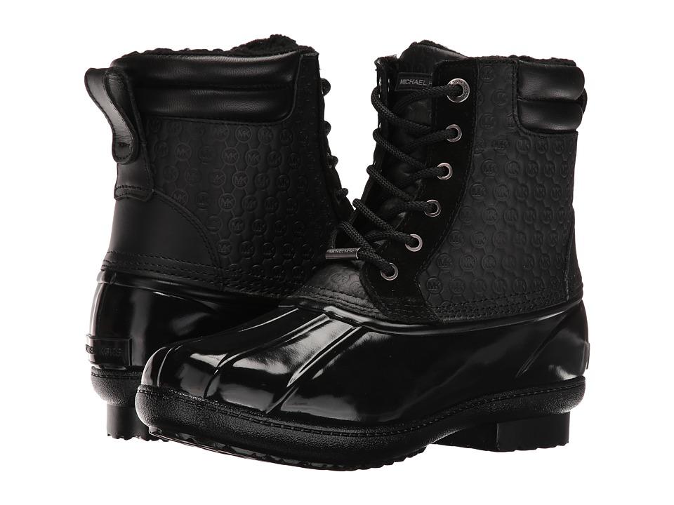 MICHAEL Michael Kors Easton Bootie (Black Rubber/Embossed Vachetta/Faux Fur) Women