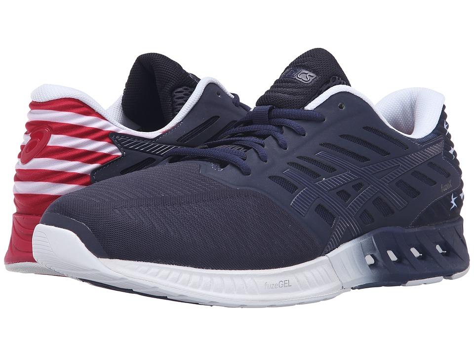 ASICS - FuzeX Countrypack USA (Indigo Blue/True Red/White) Mens Running Shoes