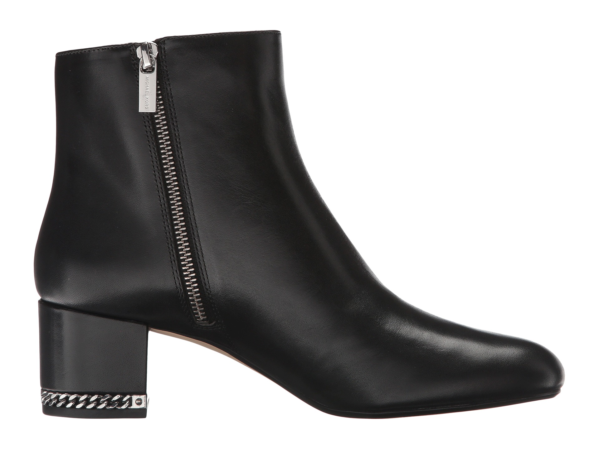 michael michael kors sabrina mid bootie black smooth calf
