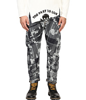 Vivienne Westwood - Anglomania Banana Crop Jeans in Blue Denim