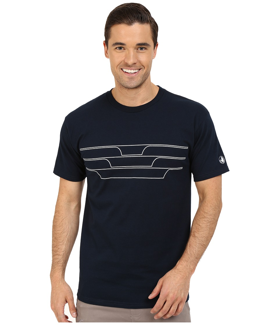Body Glove 47151 Split Peak Tee Indigo Mens T Shirt