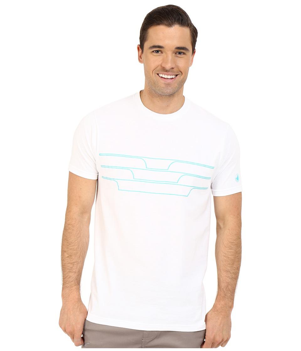 Body Glove 47151 Split Peak Tee White Mens T Shirt