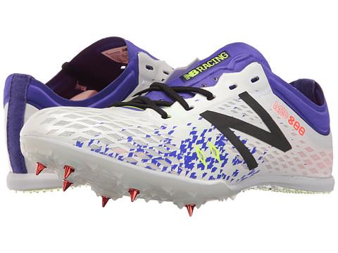 New Balance MD800v5 Middle Distance Spike - White/Purple