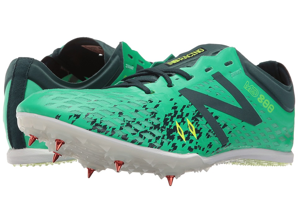 New Balance - MD800v5 Middle Distance Spike (Green/Grey) Women's Shoes